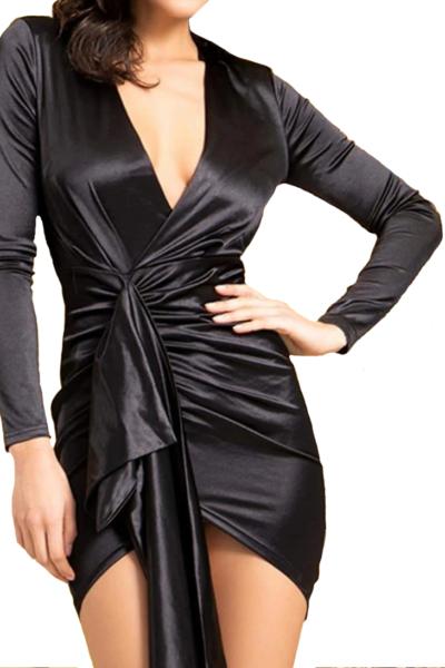 Σατέν mini φόρεμα