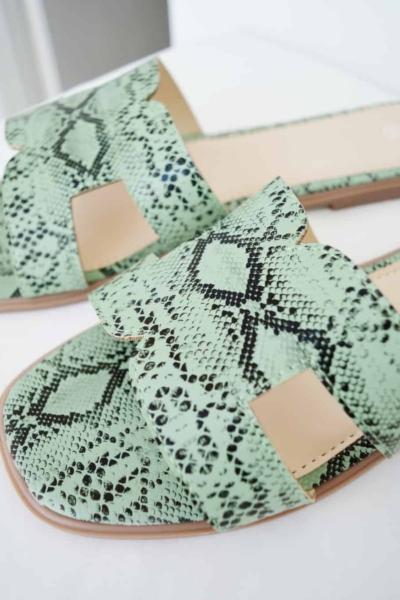 Flat σανδάλια snake print