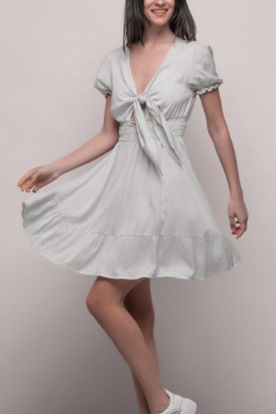 Φόρεμα Πουα Λευκό