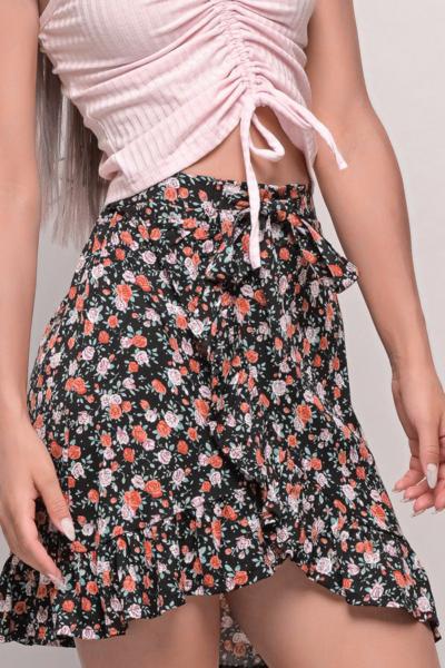 Φούστα floral Με Βολάν